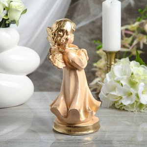 """Статуэтка """"Ангел молящийся"""" 23 см, бежевая"""