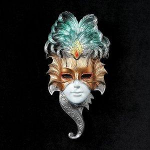 """Венецианская маска """"Сова"""". 27 см.белая МИКС"""