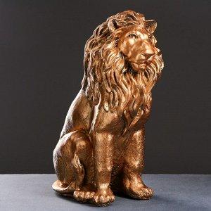 "Фигура ""Лев сидящий"" бронза 40х25х56см"