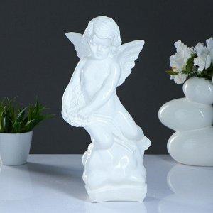 """Фигура """"Ангел"""" большой белый 10х18х38см"""