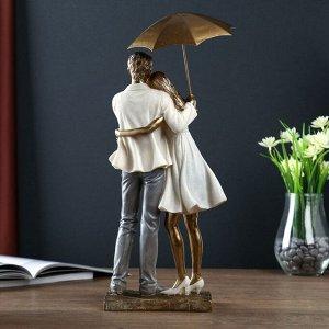 "Сувенир полистоун романтика ""Влюблённые под зонтом"" 42х11х16,5 см"