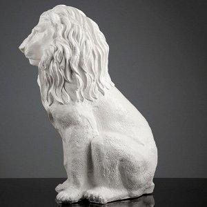 """Фигура """"Лев сидящий"""" белая 40х25х56см"""