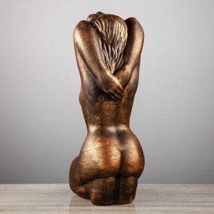 "Статуэтка ""Дама"" бронзовый цвет, 38 см"