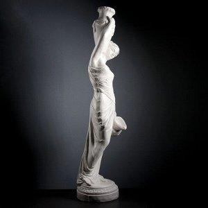 """Фигура """"Девушка с кувшином"""" большая, белый 140см"""