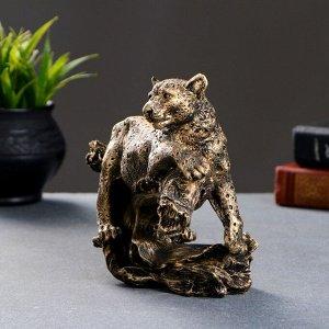 """Фигура """"Леопард"""" бронза 20х8х16см"""
