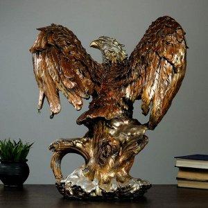 """Фигура """"Орел большой с крыльями"""" бронза. 52х37х57см"""