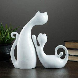 """Фигуры """"Кошки"""" набор белый 17х7х16см / 17х9х27см"""