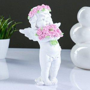 "Фигура ""Ангел с розами"". 13х9х22см"
