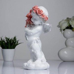 """Фигура """"Ангел с букетом роз"""" 32см"""