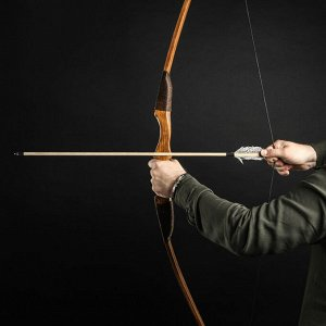 """Сувенирное деревянное оружие """"Лук фигурный"""", 170 см, взрослый, коричневый, массив ясеня"""