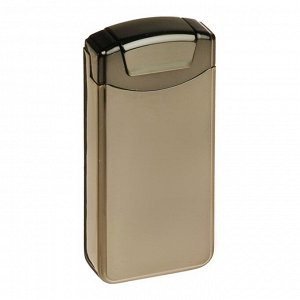 Зажигалка электронная в подарочной коробке, USB, дуговая, серый металлик, микс, 12х8.5 см