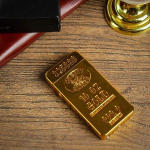 Зажигалка электронная, дуговая, USB, золотая, 3.5х1х7 см