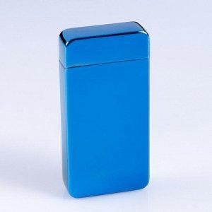 Зажигалка электронная в подарочной упаковке, USB, дуговая, цвет морской волны, 8.5х12 см