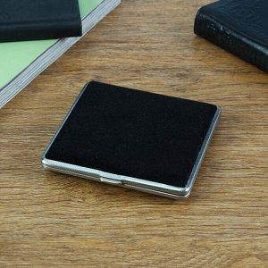 Портсигар чёрный, под бархат, 9.5х1.5 см