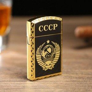 "Зажигалка газовая ""СССР"", микс, 1х3.5х6 см, чёрная"