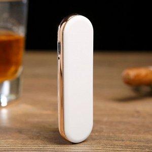 """Зажигалка электронная """"Слайд"""", USB, спираль, белая, 0.7х2.2х8 см"""