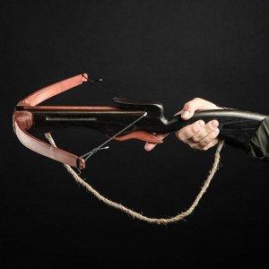 """Сувенирное деревянное оружие """"Арбалет"""". взрослый. чёрный. массив ясеня. 70 см"""