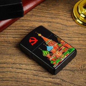 "Зажигалка электронная ""Кремль"", дуговая, USB, 4х1.5х6 см"