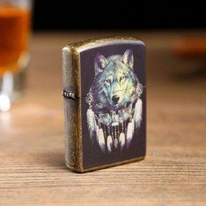 """Зажигалка электронная """"Волчий дух"""", дуговая, бесшумная, от USB, чёрная, 1.4х4х5.5 см"""