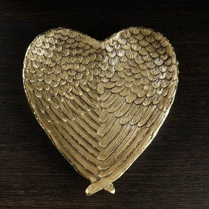 "Подставка под мелочи ""Крылья ангела"" золото 23х20х4см"