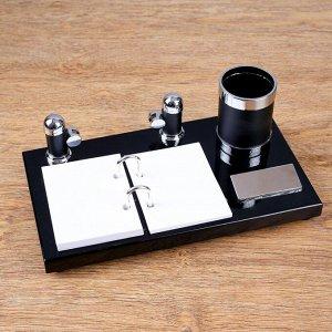 Набор настольный 3в1 (визитница, карандашница, держатель для календаря)