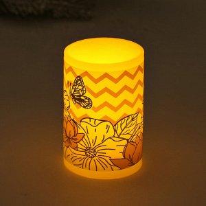 Электронная свеча «Цветы», 5 х 7 см