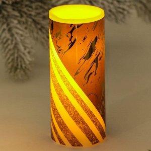 Электронная свеча «Черное с золотом», 5 х 12,5 см