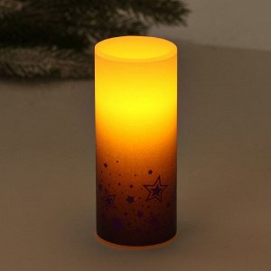 Электронная свеча «Звезды», 5 х 12,5 см