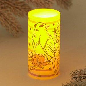 Электронная свеча «Птица», 5 х 10 см