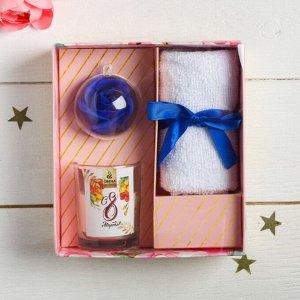Набор: свечи с ароманабором «С 8 марта», 14 х 15,5 см