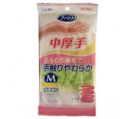 """Виниловые перчатки """"Family"""" (средней толщины, с внутренним покрытием) зеленые  РАЗМЕР M, 1пара"""