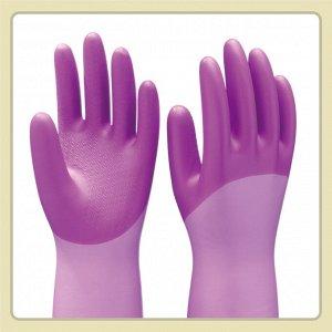 """Виниловые перчатки """"Family"""" (утолщенные, с внутренним покрытием) лавандовые РАЗМЕР S, 1пара"""