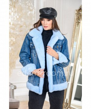 Куртка джинсовая с норковым мехомАртикул: AL-123-70-N
