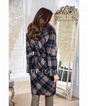 Модное пальто с мехомАртикул: AR-120-110-KL-P
