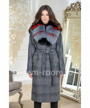 Утепленное пальто с мехом 2020-2021Артикул: AR-18608-115-SR-P