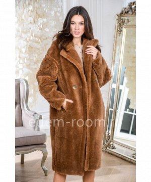 Модная шуба из шерсти Артикул: N-9030-110-KM