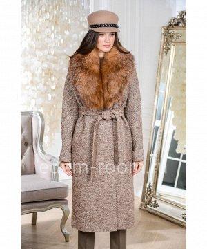 Пальто с мехом лисы, утепленноеАртикул: AR-18608-115-TV-L