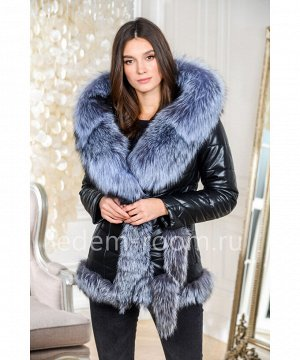 Зимняя куртка из эко-кожи с натуральным мехомАртикул: GL-8857-2-70-CH