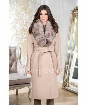 Пальто утепленное с меховым воротником. Хит продаж.Артикул: AR-18608-115-BG-P