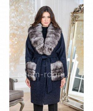 Утеплённое пальто с меховыми карманамиАртикул: AR-1538-110-SN-P