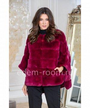 Меховая куртка из кролика на молнииАртикул: 525-1-70-BR-KR