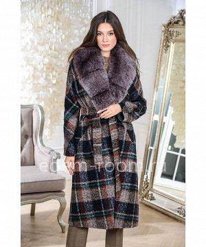 Новинка. Утепленное пальто в клеткуАртикул: 18608-120-KL-P