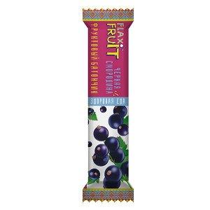 Батончик фруктовый Flax Fruit Здоровая Еда Черная смородина 30 гр.