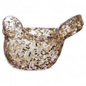 Подсвечник 'птичка' цвет: золото высота=11 см (мал=6шт./кор=96 шт.)