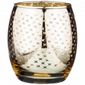 Подсвечник 'золото'диаметр=8 см высота=9 см без упаковки (мал=6шт./кор=36шт.)