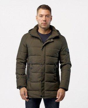 . Темно-зеленый; Темно-синий;    VOE 807  Мужская куртка, два нижних боковых кармана на молниях, внутрений карман, отстегивающийся капюшон, трикотажные теплоудерживающие манжеты в рукавах.  Благ