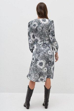 Платье жен. Markel черно-белый