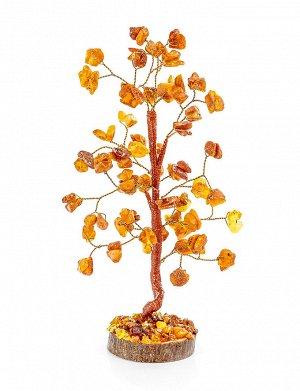 Маленькое «Танцующее дерево» из янтаря на деревянной подставке, 707311312
