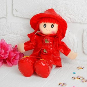 Мягкая игрушка «Кукла с кудрявыми волосами», в платьишке и шляпке, цвета МИКС