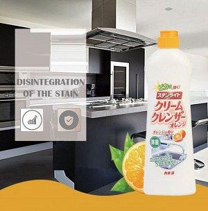 Крем чистящий для кухни «Kaneyo - Экстракт бамбука» (апельсин) 400 г